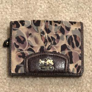 Coach cheetah print wallet and coin pouch